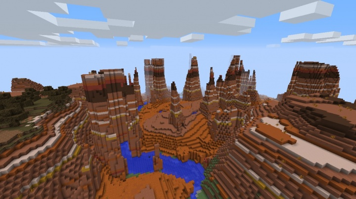 mesa dans minecraft