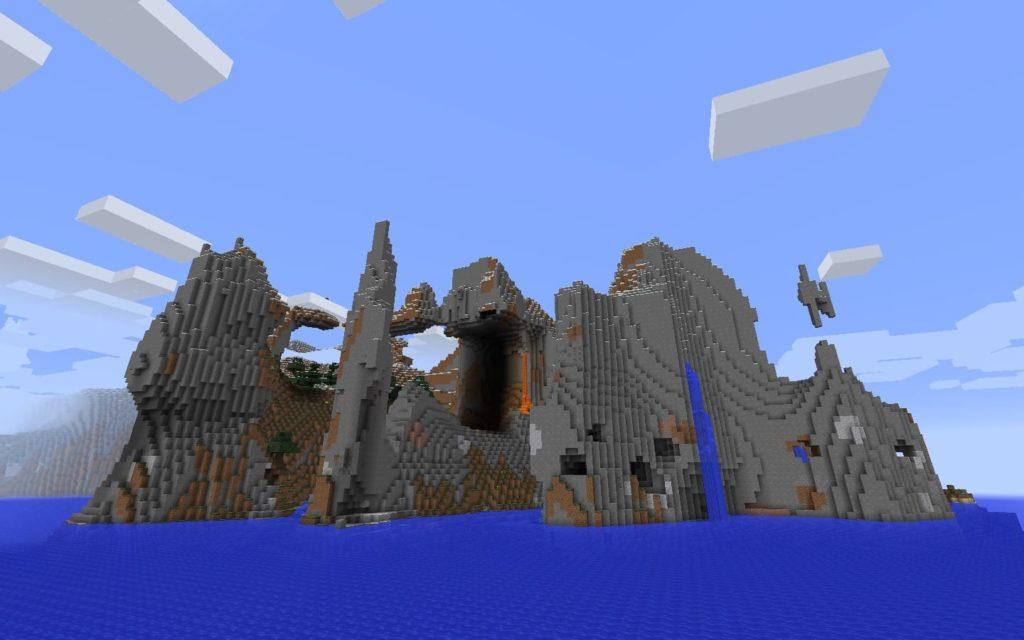 rivage pierre dans minecraft